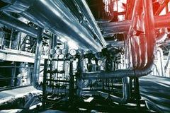 kable wyposażenia fabryki rurociągi zdjęcia royalty free