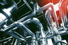kable wyposażenia fabryki rurociągi obraz stock
