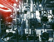 kable wyposażenia fabryki rurociągi obraz royalty free