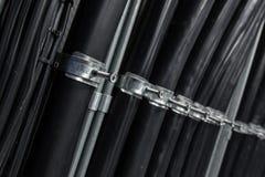Kable załatwiający na stojaku Fotografia Royalty Free