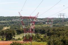 kabli elektryczna oświetlenia władza dwa Fotografia Stock