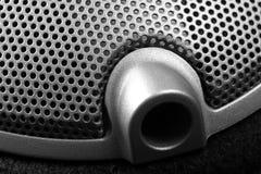 Kablowa dźwigarka słuchawki zakończenie Muzykalny lub przemysłowy tło zdjęcie royalty free