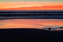 Kablowa plaża przy zmierzchem w Broome, zachodnia australia, Australia fotografia royalty free