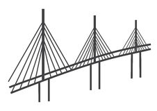 Kablowego mosta rysunek ilustracja wektor