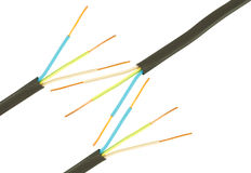kablowi elektryczni trzy Zdjęcie Royalty Free