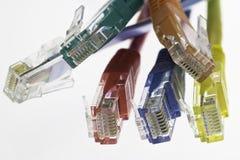 kablowi kable wyszczególniają pięć mieszkań sieć Obraz Stock