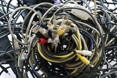 kablowy chaos Fotografia Royalty Free
