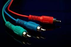 kablowy cinch składnika wideo Zdjęcia Stock