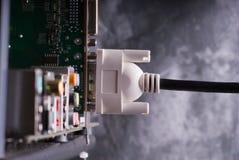 kablowy karciany cyfrowego interfejsu czopujący wideo Obrazy Royalty Free