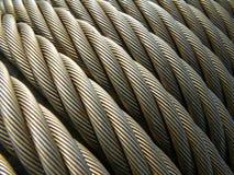 kablowy linowy stalowej struktury drut Zdjęcia Royalty Free