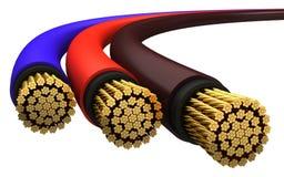 kablowy miedziany elektryczny Zdjęcia Stock