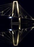 Kablowy most w Umeå, Szwecja obrazy royalty free
