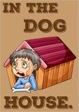 4 kablowy psiej rodziny przyjaciela dom mieści dzierżawiących rok Fotografia Stock