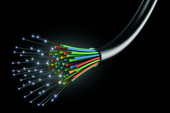kablowy włókno światłowodowe Fotografia Royalty Free