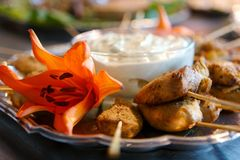 kabob цыпленка закусок вкусный Стоковая Фотография
