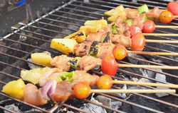 Kabob on BBQ grill Stock Photo
