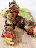 Kabob da galinha e do vegetal Imagem de Stock Royalty Free