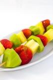 Kabob de la fruta Imagen de archivo libre de regalías