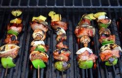 Kabob di Shish sul barbecue Fotografia Stock Libera da Diritti