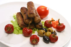 Kabob rolls with olives pepper Stock Image