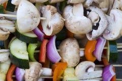 Kabob vegetal do shish Imagens de Stock