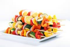 kabobs λαχανικό πιάτων Στοκ Φωτογραφία