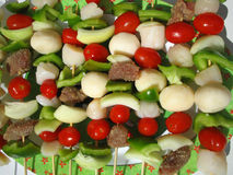 Kabobs. Ready for cooking Stock Photography