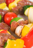Kabobs. A close up of fresh kabobs ready for the grill Royalty Free Stock Photo