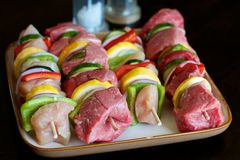 Kabobs de Shish foto de stock royalty free