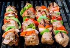 Kabobs e milho da carne Fotos de Stock