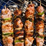 Kabobs grillés Photos stock