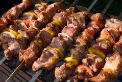 Kabobs grillés Photographie stock