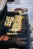 Kabobs on a grill Royalty Free Stock Photo