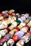 Kabobs On The Grill Royalty Free Stock Photos