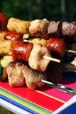 Kabobs On The Grill. Shish Kabobs Royalty Free Stock Photography