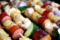 Kabobs On The Grill Stock Photography