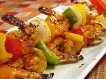 Kabobs picantes del camarón Imagen de archivo libre de regalías