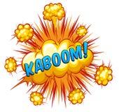 kaboom Fotografía de archivo libre de regalías
