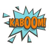 Kaboom, comic text sound effect icon. Flat  on white background vector illustration Stock Image