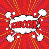 KABOOM! comic word. KABOOM! wording sound effect set design for comic background, comic strip Royalty Free Stock Image