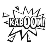 Kaboom, explosion icon, simple style Royalty Free Stock Images