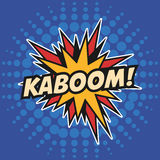 Kaboom spielt Pop-Arten-Design die Hauptrolle Lizenzfreie Stockbilder