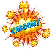 Kaboom. Word kaboom with explosion background Royalty Free Stock Photography