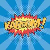 KABOOM! Wording Sound Effect. For Comic Speech Bubble Royalty Free Stock Photo