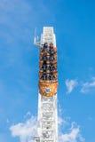 Kabotażowowie przy fuji średniogórza parkiem rozrywki Zdjęcie Royalty Free