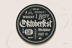Kabotażowa piwo z literowaniem dla Oktoberfest festiwalu Obraz Royalty Free