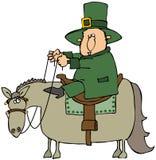 Kabouter die een Paard berijdt royalty-vrije illustratie