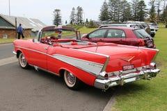 Kabriolett Chevrolets Bel Air 1957 lizenzfreie stockbilder