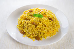 Kabsa árabe do arroz Fotografia de Stock Royalty Free