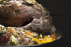 Kabsa, plat national de l'Arabie Saoudite Vue de c?t? image libre de droits